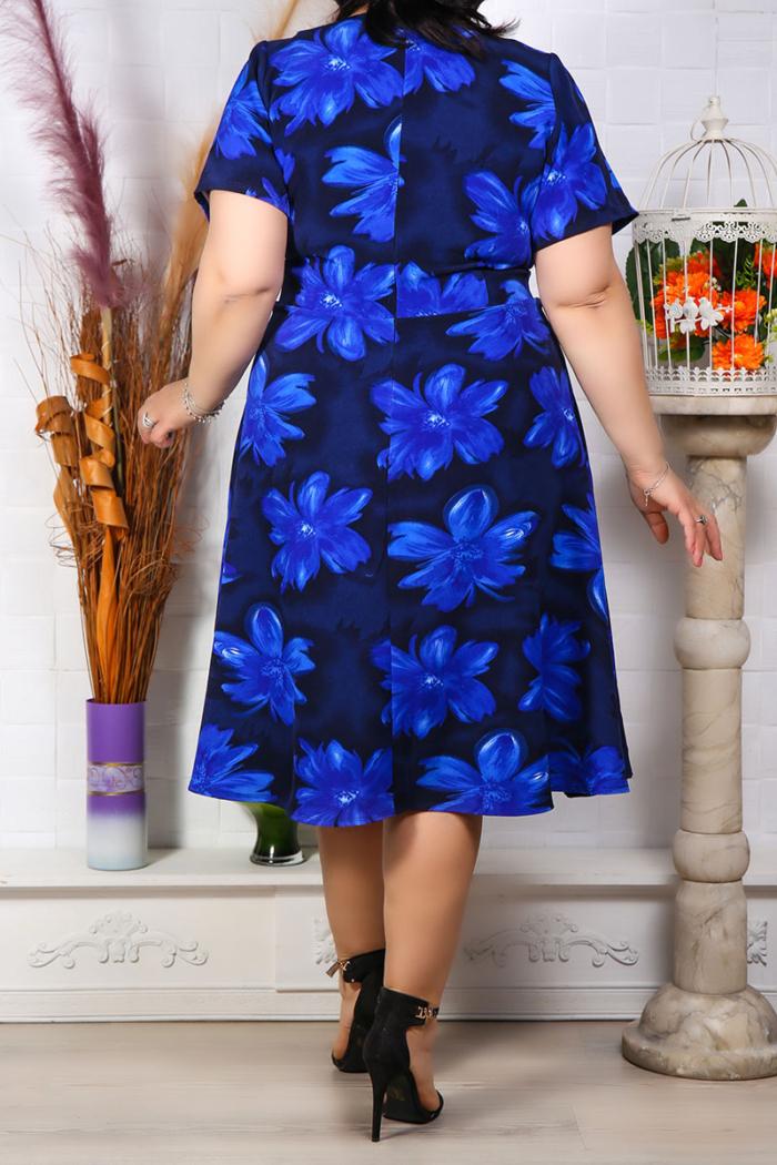 Rochie Eleganta Andora Floral Bleumarin IMG 9580