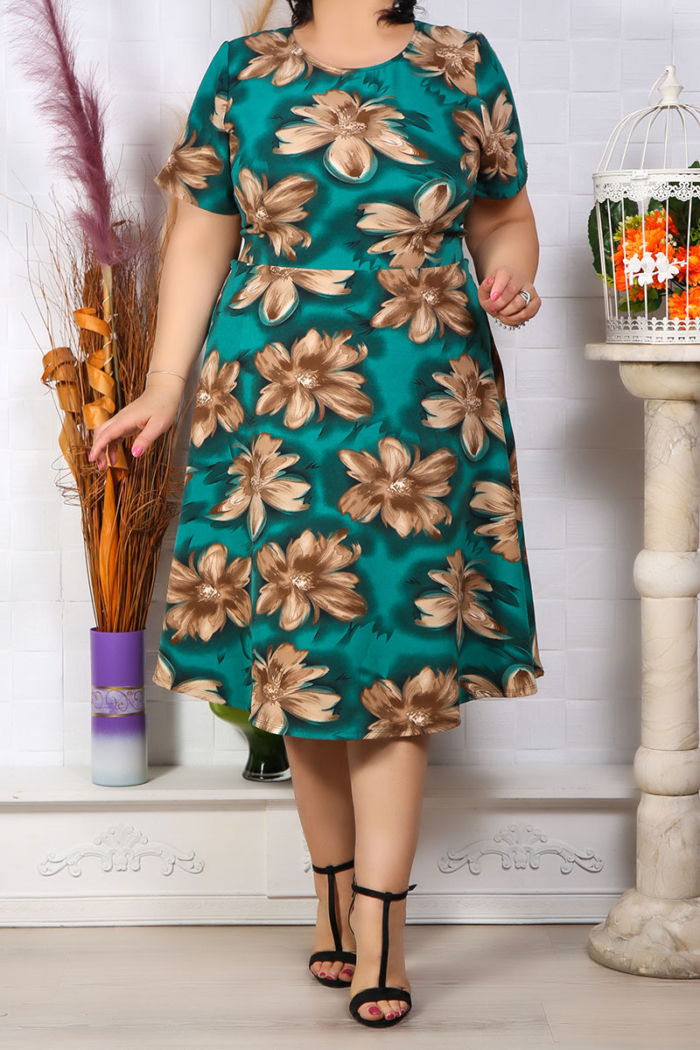 Rochie Eleganta Andora Floral Verde IMG 9581