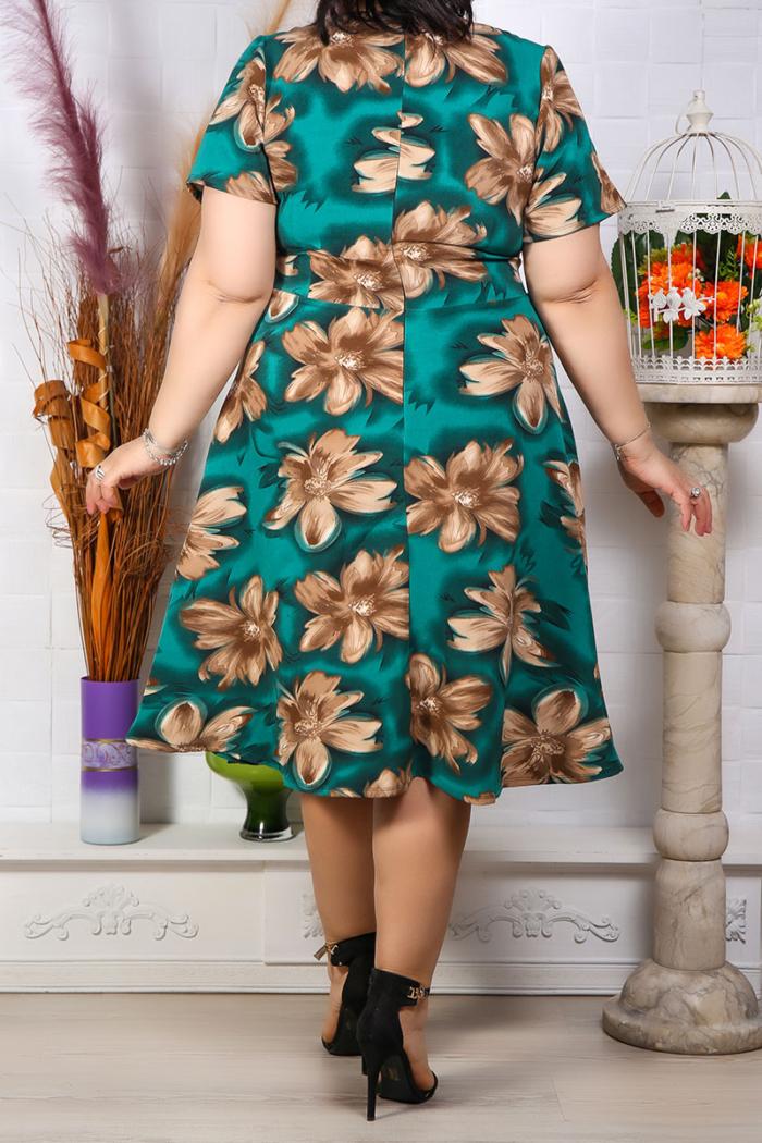 Rochie Eleganta Andora Floral Verde IMG 9582