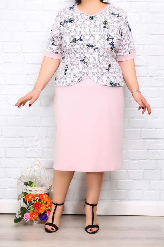 Rochie Eleganta Matilda Roz Color IMG 9970