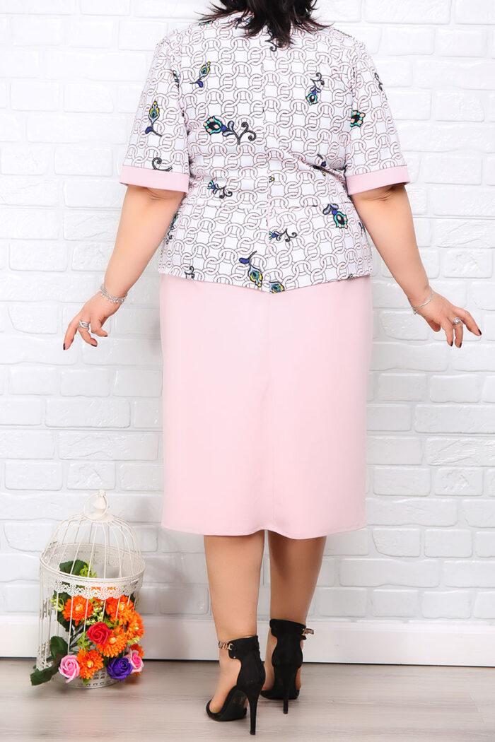 Rochie Eleganta Matilda Roz Color IMG 9971