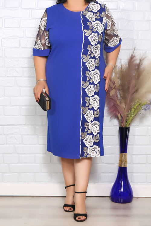Rochie de Ocazie Bia Albastru Floral IMG 1269 copy